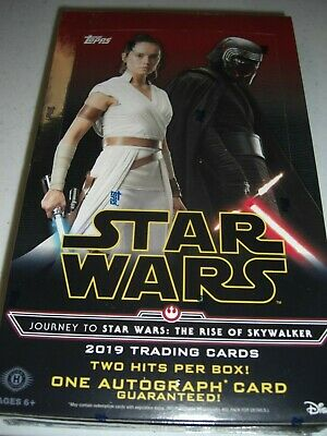 STAR WARS Journey to The Rise Of Skywalker  Hobby Box with 2 Hit  by Topps