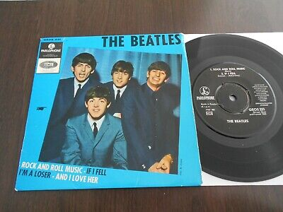 The Beatles Ep Rock N Roll Music Sweden Geos 231    Mega Rare Cover Swedish