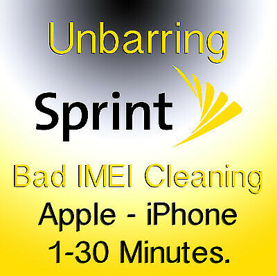 IPHONE SPRINT USA - Cleaning / Unbarring - READ DESCRITION