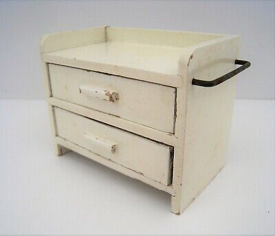 Dollhouse Miniature Natural Wood Changing Table Style Dresser 1:12 #WCBU9134