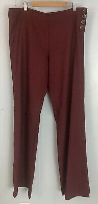 Anthropologie Elevenses The Brighton Maroon Trousers *Size 16 Tall*