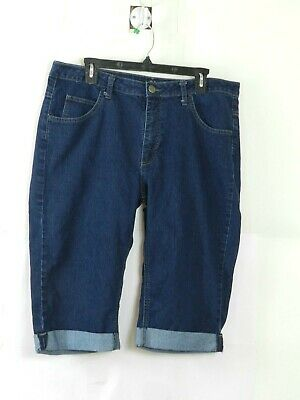 Riders By Lee Womens Capri Jeans Size 16 M Blue