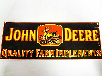 John Deere Advertising Sign Quality Farm Implements
