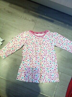 Girls Bluezoo Age 9-12 Months Long Sleeved Top