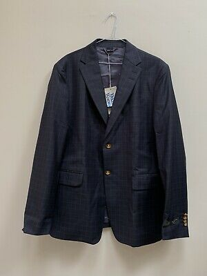 """Vivienne Westwood Suit Jacket.  Navy Blue with Check.  Size 54(44"""" Chest).  BNWT"""
