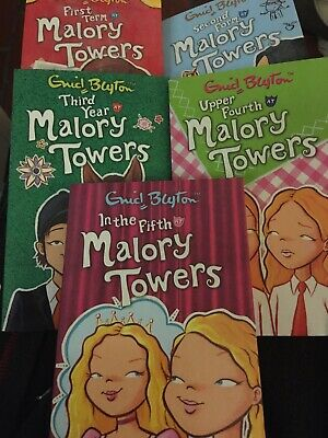 5 x ENID BLYTON MALORY TOWERS PAPERBACK BOOKS SET 1-5