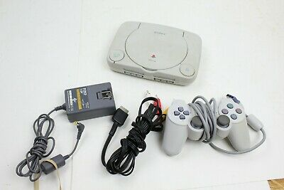 Sony Playstation PSOne Slim Bundle SCPH-101 Cables Controller ps1 console system