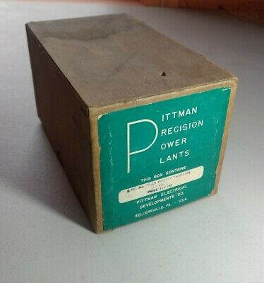Vtg Pittman Motors 12 Volt Double Throttle Rheostat NOS