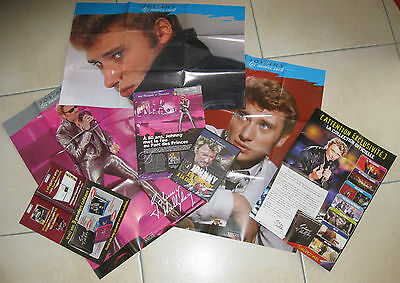 Johnny Hallyday: 60 Fiches Atlas + Dvd Cigale 2006 + 3 Posters