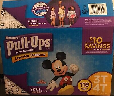 Huggies Pull Ups Training Pants Size 3T - 4T Unisex Box Of 116