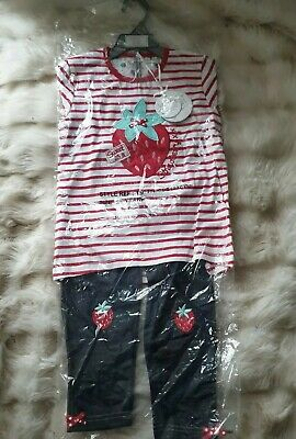 Girls 5-6 Years Strawberry Outfit New Tunic Top Jeggings leggings Bundle next da