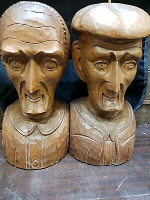 Antique French Breton Peasent Bookends