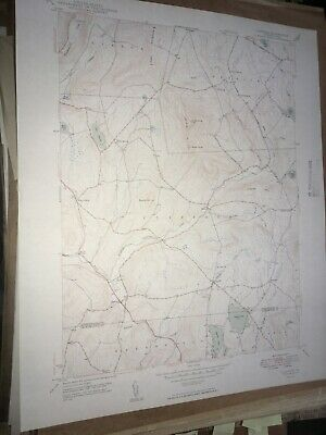Clifford Pa. Susquehanna Co USGS Topographical Geological Survey Quadrangle Map