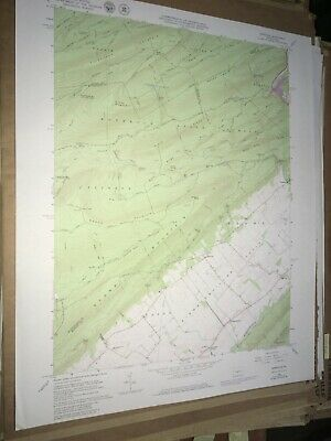 Barrville PA Mifflin County USGS Topographical Geological Survey Quadrangle Map