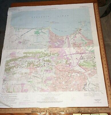 Bayamon PR Puerto Rico 1982 USGS Topographical Geological Quadrangle Topo Map
