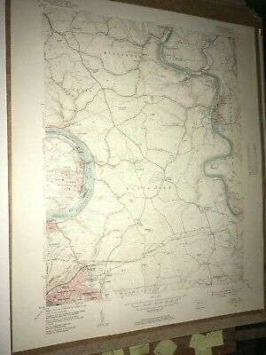 Donora PA Washington County USGS Topographical Geological Survey Quadrangle Map