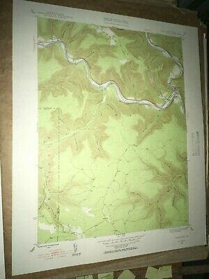 Driftwood PA Cameron Co Old USGS Topographical Geological Survey Quadrangle Map