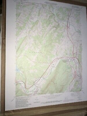 Bedford PA. County USGS Topographical Geological Survey Quadrangle Old Map