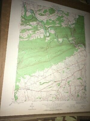 Auburn Pa. Schuylkill Co USGS Topographical Geological Survey Quadrangle Old Map