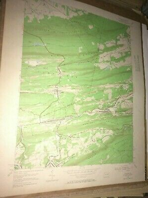 Ashland Pa.Schuylkill Co USGS Topographical Geological Survey Quadrangle Old Map