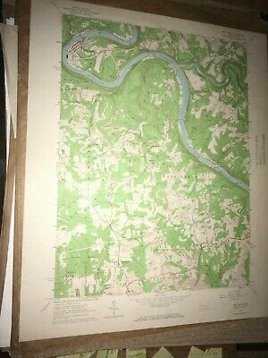 East Brady PA Clarion County USGS Topographical Geological Survey Quadrangle Map