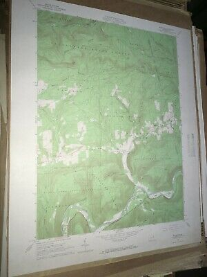 Barbours PA Lycoming Co. USGS Topographical Geological Survey Quadrangle Old Map