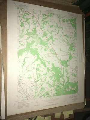 Milford Square PA Bucks Co USGS Topographical Geological Survey Quadrangle Map