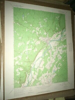 Milford PA NJ Pike County USGS Topographical Geological Survey Quadrangle Map
