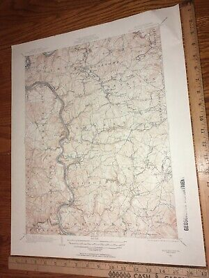 Masontown PA Fayette Co. 1931 USGS Topographical Geological Quadrangle Map 17x21