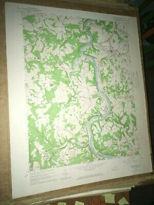Masontown PA Fayette Co. Old USGS Topographical Geological Survey Quadrangle Map