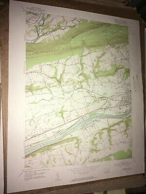 Mifflinville PA Columbia Co USGS Topographical Geological Survey Quadrangle Map