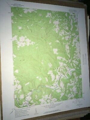 Mahaffey Pa. Clearfield Co USGS Topographical Geological Survey Quadrangle Map