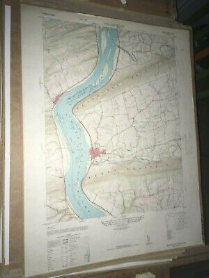 Millersburg PA Dauphin Co USGS Topographical Geological Survey Quadrangle Map