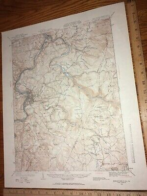 Morgantown WV PA Monongalia Co.1931 USGS Topographical Geological Quadrangle Map