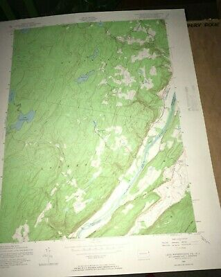 Lake Maskenozha PA - NJ Old USGS Topographical Geological Quadrangle Topo Map
