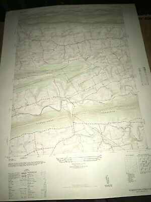 Klingerstown PA Schuylkill Co. USGS Topographical Geological Quadrangle Topo Map
