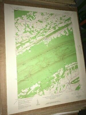 McClure PA Snyder Co. Old USGS Topographical Geological Survey Quadrangle Map