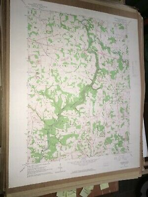 Portersville Pa. Butler Co USGS Topographical Geological Survey Quadrangle Map