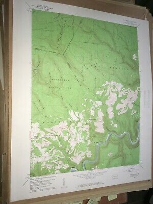 Pottersdale PA ClearField Co USGS Topographical Geological Survey Quadrangle Map
