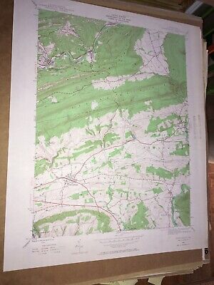 Orwigsburg Pa. Schuylkill Co USGS Topographical Geological Survey Quadrangle Map