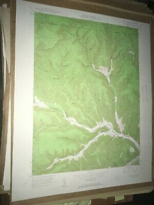Rich Valley Pa. Cameron Co USGS Topographical Geological Survey Quadrangle Map
