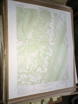 Orbisonia Pa. Huntingdon Co USGS Topographical Geological Survey Quadrangle Map