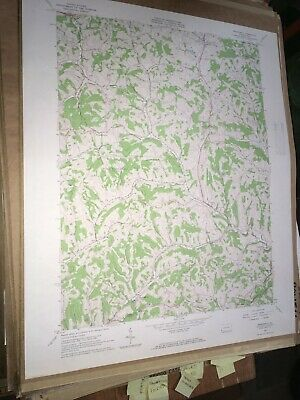Prosperity Pa. Washington Co USGS Topographical Geological Survey Quadrangle Map
