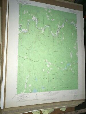 Rowland PA Pike County USGS Topographical Geological Survey Quadrangle Old Map