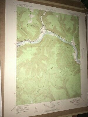 Renovo East Pa. Clinton Co USGS Topographical Geological Survey Quadrangle Map