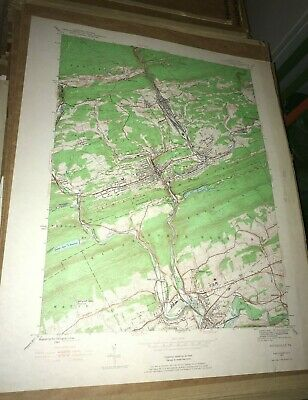 Pottsville PA Schuykill County USGS Topographical Geological Quadrangle Topo Map