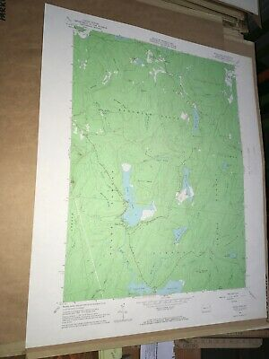 Pecks Pond PA Pike County USGS Topographical Geological Quadrangle Topo Map
