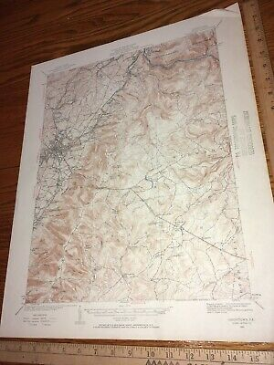 Uniontown PA 1931 USGS Topographical Geological Quadrangle Topo Map