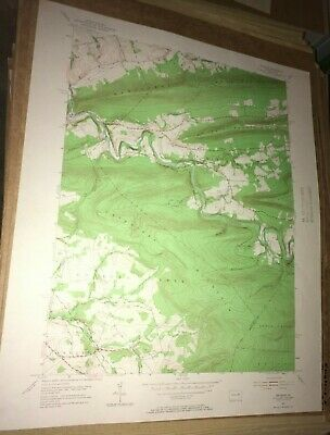 Shumans PA Columbia County USGS Topographical Geological Survey Quadrangle Map