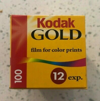 Kodak Gold 100 - 1 Sealed Unit - 35mm 12 Exposures - Expired - New in Box